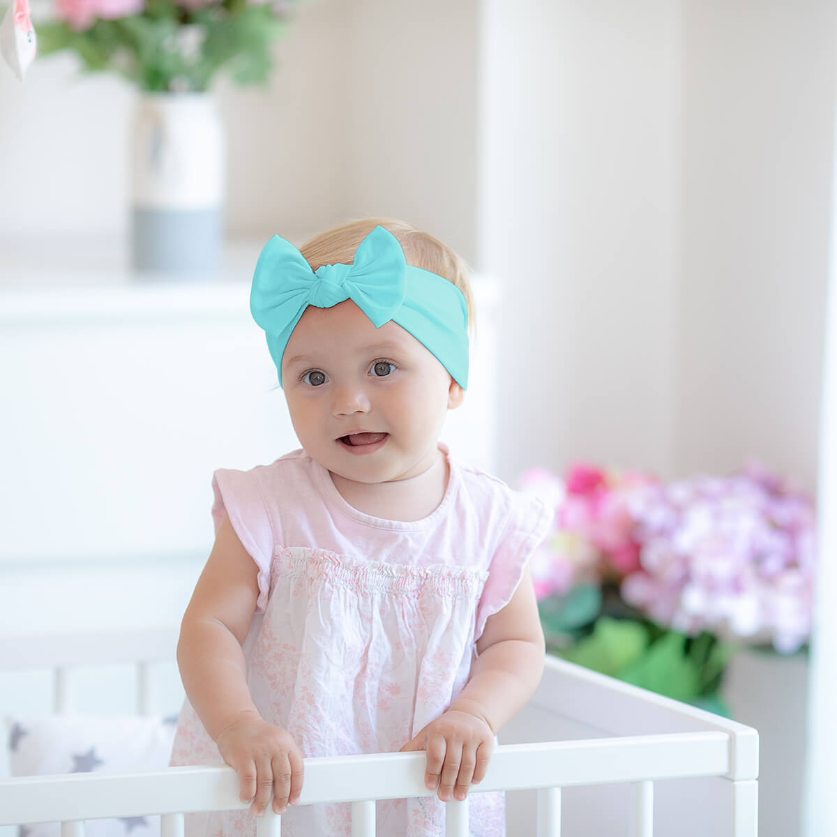 Starfish Headband Infant Headband Aqua Baby Headband Baby Headband Baby Girl Headband Baby Hair Bow Newborn Headband Aqua Headband